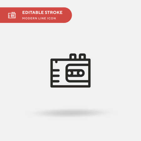 Voice Recorder Simple vector icon. Illustration symbol design template for web mobile UI element. Perfect color modern pictogram on editable stroke. Voice Recorder icons for your business project Ilustração