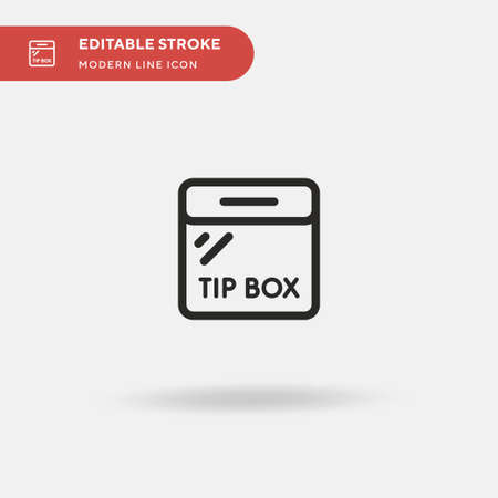 Tip Simple vector icon. Illustration symbol design template for web mobile UI element. Perfect color modern pictogram on editable stroke. Tip icons for your business project Illustration