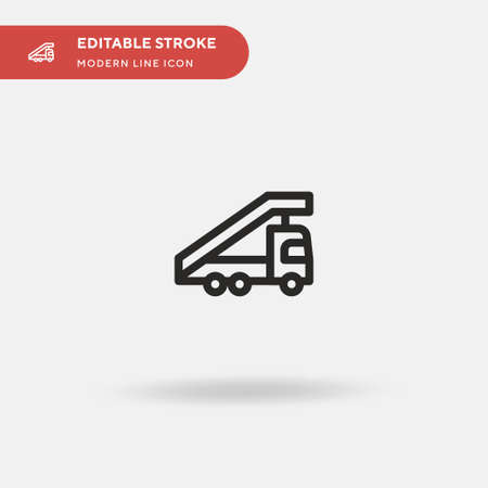 Stair Truck Simple vector icon. Illustration symbol design template for web mobile UI element. Perfect color modern pictogram on editable stroke. Stair Truck icons for your business project Illusztráció