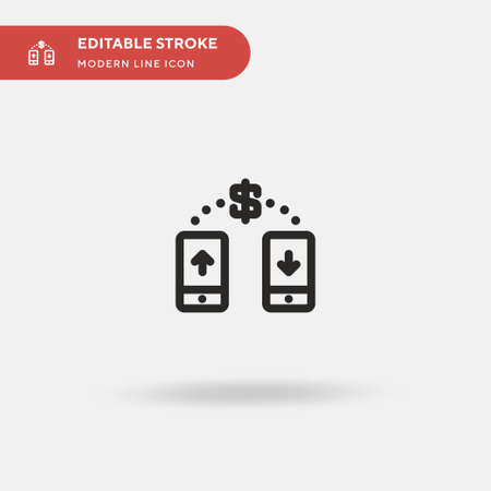 Transfer Money Simple vector icon. Illustration symbol design template for web mobile UI element. Perfect color modern pictogram on editable stroke. Transfer Money icons for your business project