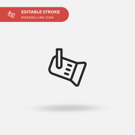 Spotlight Simple vector icon. Illustration symbol design template for web mobile UI element. Perfect color modern pictogram on editable stroke. Spotlight icons for your business project Illustration