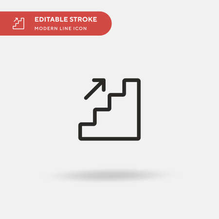 Stair Simple vector icon. Illustration symbol design template for web mobile UI element. Perfect color modern pictogram on editable stroke. Stair icons for your business project