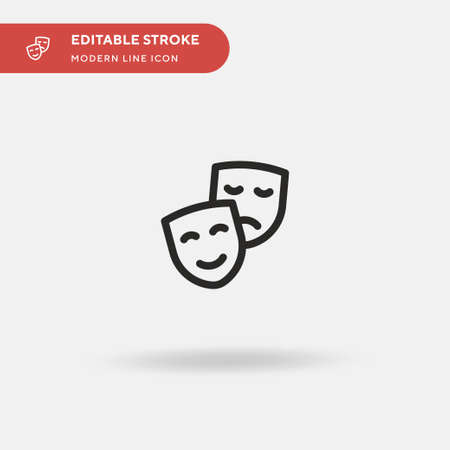 Theater Simple vector icon. Illustration symbol design template for web mobile UI element. Perfect color modern pictogram on editable stroke. Theater icons for your business project  イラスト・ベクター素材