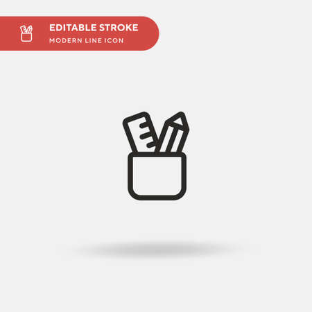 Stationery Simple vector icon. Illustration symbol design template for web mobile UI element. Perfect color modern pictogram on editable stroke. Stationery icons for your business project Vectores