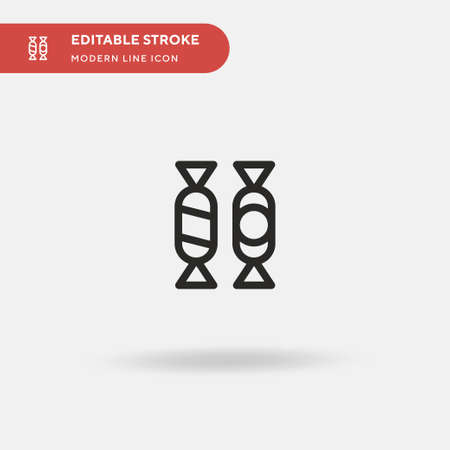 Candies Simple vector icon. Illustration symbol design template for web mobile UI element. Perfect color modern pictogram on editable stroke. Candies icons for your business project