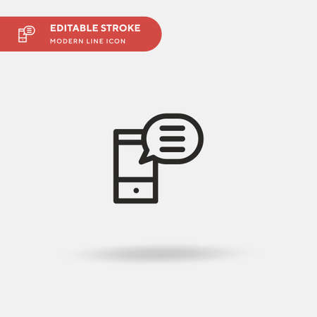 Answer Simple vector icon. Illustration symbol design template for web mobile UI element. Perfect color modern pictogram on editable stroke. Answer icons for your business project