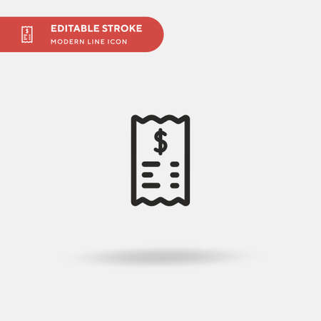 Receipt Simple vector icon. Illustration symbol design template for web mobile UI element. Perfect color modern pictogram on editable stroke. Receipt icons for your business project