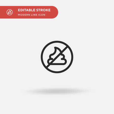 No Poop Simple vector icon. Illustration symbol design template for web mobile UI element. Perfect color modern pictogram on editable stroke. No Poop icons for your business project Stock Illustratie