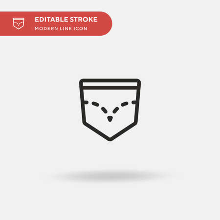 Back Pocket Simple vector icon. Illustration symbol design template for web mobile UI element. Perfect color modern pictogram on editable stroke. Back Pocket icons for your business project