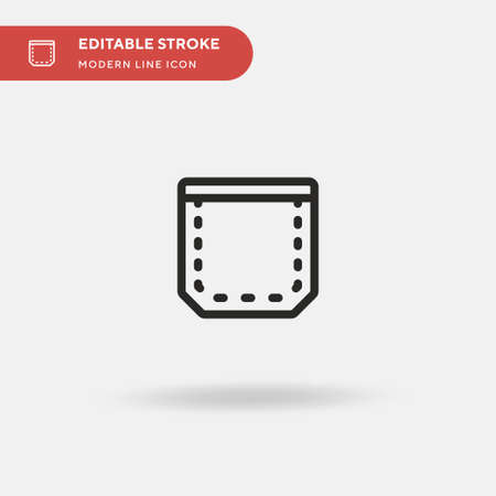 Pocket Simple vector icon. Illustration symbol design template for web mobile UI element. Perfect color modern pictogram on editable stroke. Pocket icons for your business project