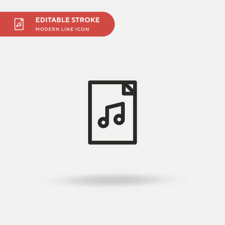 Music File Simple vector icon. Illustration symbol design template for web mobile UI element. Perfect color modern pictogram on editable stroke. Music File icons for your business project Illustration