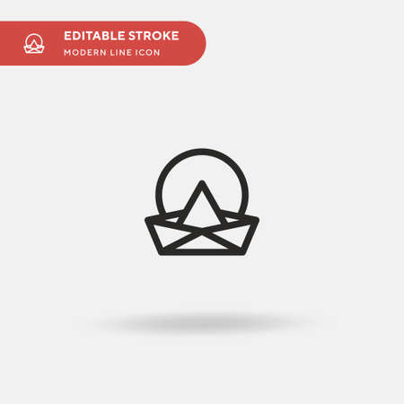 Paper Boat Simple vector icon. Illustration symbol design template for web mobile UI element. Perfect color modern pictogram on editable stroke. Paper Boat icons for your business project