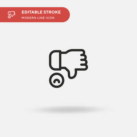 Negative Simple vector icon. Illustration symbol design template for web mobile UI element. Perfect color modern pictogram on editable stroke. Negative icons for your business project Ilustração