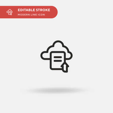 Upload Simple vector icon. Illustration symbol design template for web mobile UI element. Perfect color modern pictogram on editable stroke. Upload icons for your business project