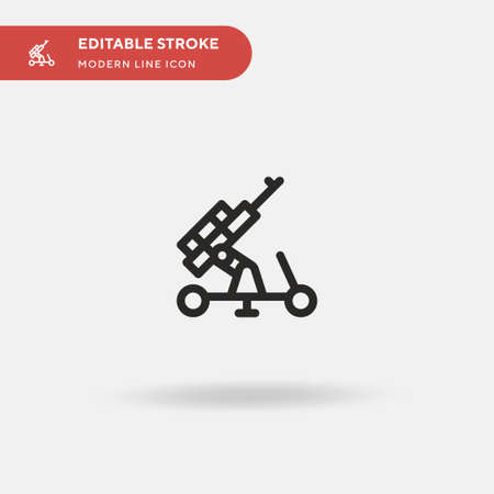 Artillery Simple vector icon. Illustration symbol design template for web mobile UI element. Perfect color modern pictogram on editable stroke. Artillery icons for your business project Illusztráció