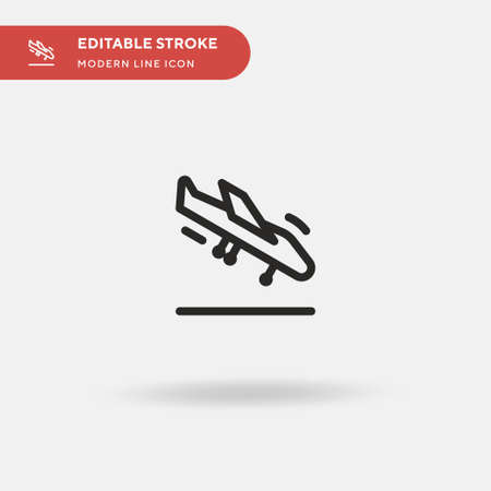 Arrivals Simple vector icon. Illustration symbol design template for web mobile UI element. Perfect color modern pictogram on editable stroke. Arrivals icons for your business project