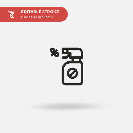 Bug Spray Simple vector icon. Illustration symbol design template for web mobile UI element. Perfect color modern pictogram on editable stroke. Bug Spray icons for your business project Vectores