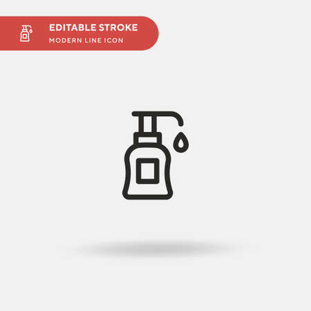 Lotion Simple vector icon. Illustration symbol design template for web mobile UI element. Perfect color modern pictogram on editable stroke. Lotion icons for your business project 일러스트