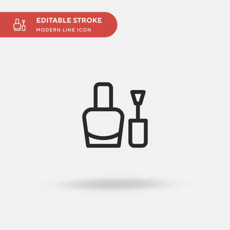 Nail Polish Simple vector icon. Illustration symbol design template for web mobile UI element. Perfect color modern pictogram on editable stroke. Nail Polish icons for your business project 일러스트