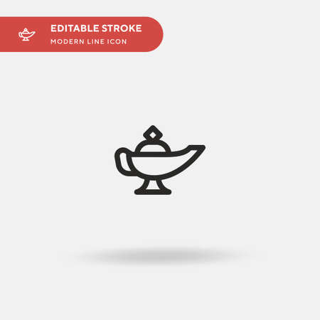 Magic Lamp Simple vector icon. Illustration symbol design template for web mobile UI element. Perfect color modern pictogram on editable stroke. Magic Lamp icons for your business project