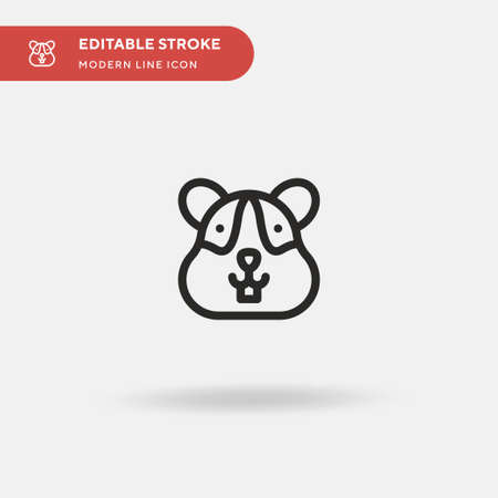 Hamster Simple vector icon. Illustration symbol design template for web mobile UI element. Perfect color modern pictogram on editable stroke. Hamster icons for your business project