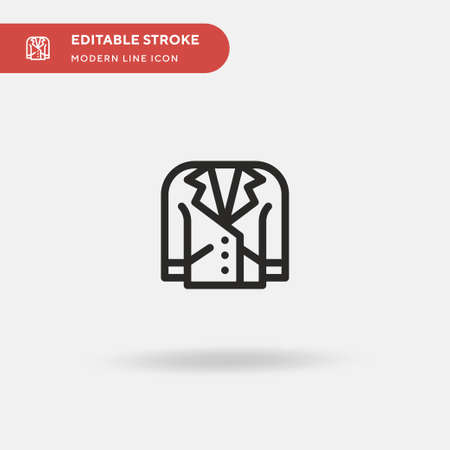 Leather Simple vector icon. Illustration symbol design template for web mobile UI element. Perfect color modern pictogram on editable stroke. Leather icons for your business project