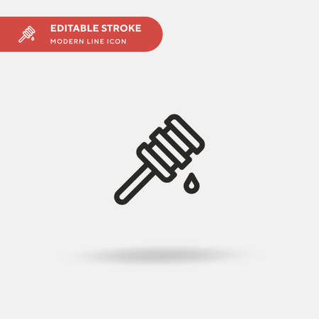Honey Simple vector icon. Illustration symbol design template for web mobile UI element. Perfect color modern pictogram on editable stroke. Honey icons for your business project Ilustrace