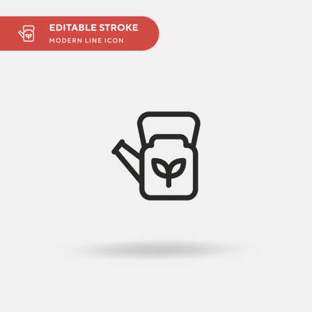 Watering Can Simple vector icon. Illustration symbol design template for web mobile UI element. Perfect color modern pictogram on editable stroke. Watering Can icons for your business project