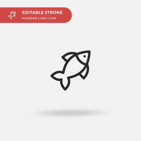 Goldfish Simple vector icon. Illustration symbol design template for web mobile UI element. Perfect color modern pictogram on editable stroke. Goldfish icons for your business project