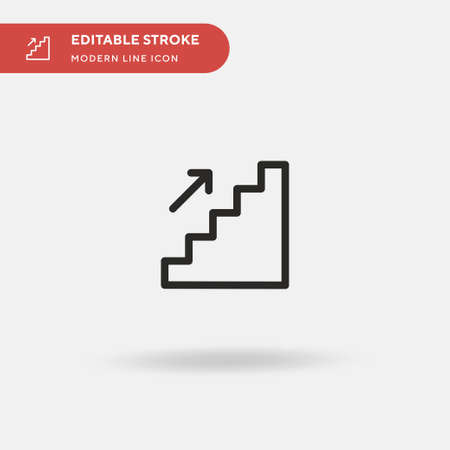 Stairs Simple vector icon. Illustration symbol design template for web mobile UI element. Perfect color modern pictogram on editable stroke. Stairs icons for your business project Ilustração