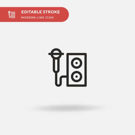Karaoke Simple vector icon. Illustration symbol design template for web mobile UI element. Perfect color modern pictogram on editable stroke. Karaoke icons for your business project Ilustração