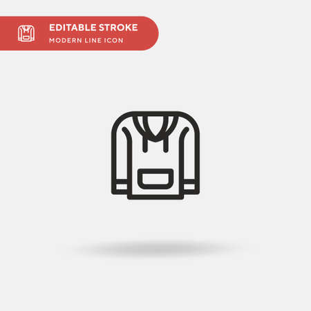 Hoodie Simple vector icon. Illustration symbol design template for web mobile UI element. Perfect color modern pictogram on editable stroke. Hoodie icons for your business project