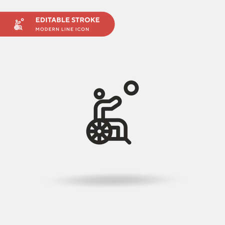 Disabled Simple vector icon. Illustration symbol design template for web mobile UI element. Perfect color modern pictogram on editable stroke. Disabled icons for your business project Vectores