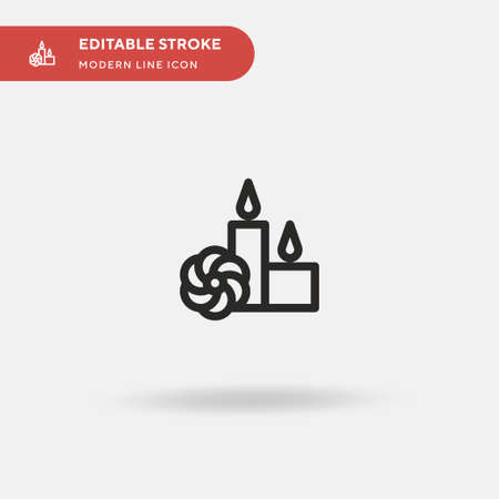 Candle Simple vector icon. Illustration symbol design template for web mobile UI element. Perfect color modern pictogram on editable stroke. Candle icons for your business project Archivio Fotografico - 150965220