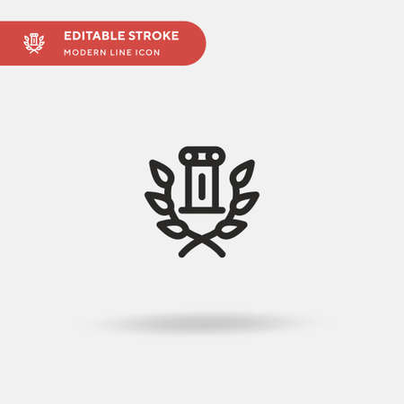 Laurel Simple vector icon. Illustration symbol design template for web mobile UI element. Perfect color modern pictogram on editable stroke. Laurel icons for your business project Illustration