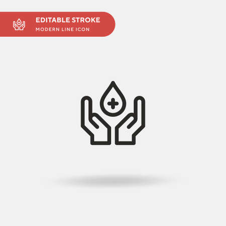 Blood Donation Simple vector icon. Illustration symbol design template for web mobile UI element. Perfect color modern pictogram on editable stroke. Blood Donation icons for your business project