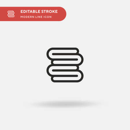 Towel Simple vector icon. Illustration symbol design template for web mobile UI element. Perfect color modern pictogram on editable stroke. Towel icons for your business project Stock Illustratie
