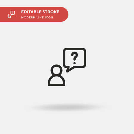 Question Simple vector icon. Illustration symbol design template for web mobile UI element. Perfect color modern pictogram on editable stroke. Question icons for your business project
