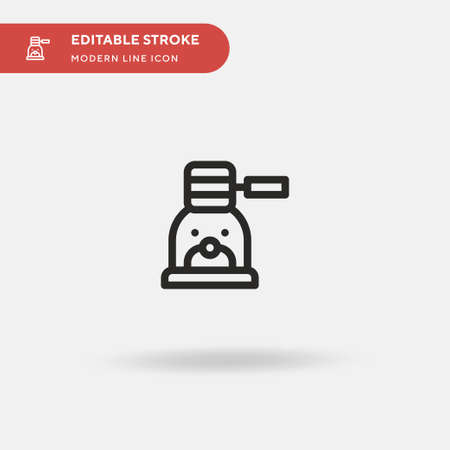 Whack A Mole Simple vector icon. Illustration symbol design template for web mobile UI element. Perfect color modern pictogram on editable stroke. Whack A Mole icons for your business project