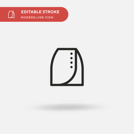Skirt Simple vector icon. Illustration symbol design template for web mobile UI element. Perfect color modern pictogram on editable stroke. Skirt icons for your business project  イラスト・ベクター素材