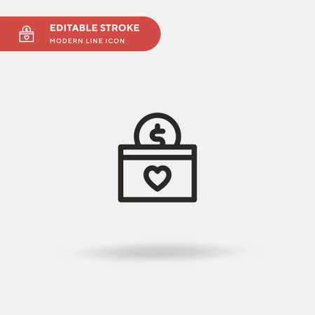 Donation Simple vector icon. Illustration symbol design template for web mobile UI element. Perfect color modern pictogram on editable stroke. Donation icons for your business project