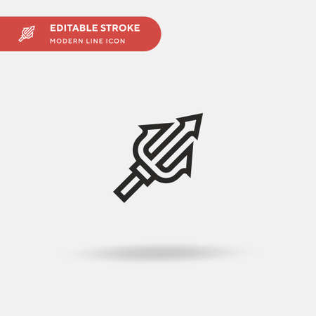 Trident Simple vector icon. Illustration symbol design template for web mobile UI element. Perfect color modern pictogram on editable stroke. Trident icons for your business project