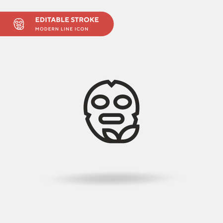 Facial Mask Simple vector icon. Illustration symbol design template for web mobile UI element. Perfect color modern pictogram on editable stroke. Facial Mask icons for your business project