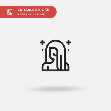 Beauty Simple vector icon. Illustration symbol design template for web mobile UI element. Perfect color modern pictogram on editable stroke. Beauty icons for your business project 일러스트