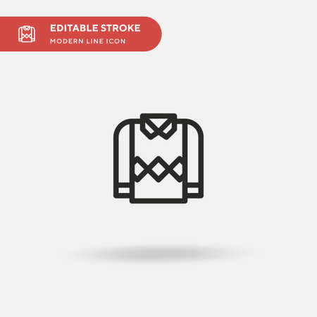 Pullover Simple vector icon. Illustration symbol design template for web mobile UI element. Perfect color modern pictogram on editable stroke. Pullover icons for your business project  イラスト・ベクター素材