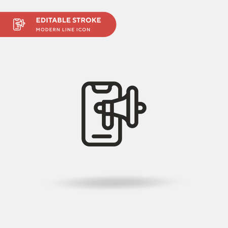 Promotion Simple vector icon. Illustration symbol design template for web mobile UI element. Perfect color modern pictogram on editable stroke. Promotion icons for your business project Ilustração