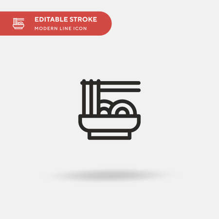 Noodles Simple vector icon. Illustration symbol design template for web mobile UI element. Perfect color modern pictogram on editable stroke. Noodles icons for your business project 向量圖像
