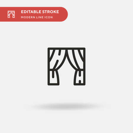 Theatre Simple vector icon. Illustration symbol design template for web mobile UI element. Perfect color modern pictogram on editable stroke. Theatre icons for your business project