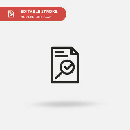 File Simple vector icon. Illustration symbol design template for web mobile UI element. Perfect color modern pictogram on editable stroke. File icons for your business project