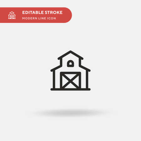 Barn Simple vector icon. Illustration symbol design template for web mobile UI element. Perfect color modern pictogram on editable stroke. Barn icons for your business project Illustration